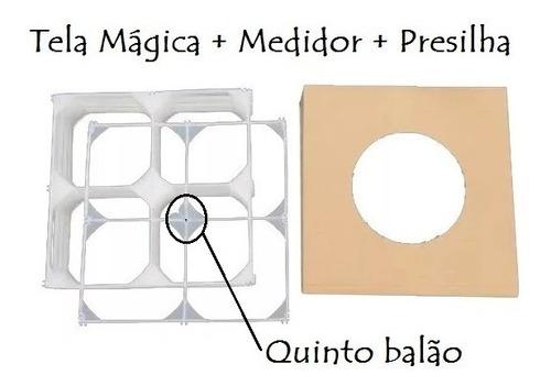Imagem 1 de 5 de 32 Tela Mágica +medidor+presilha Balões Bexigas Painel Festa