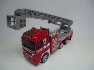 Miniatura Caminhão Bombeiro Metal Escala 1/60