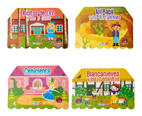 Set De 4 Libros Interactivos Pop Up / Cuentos Favoritos