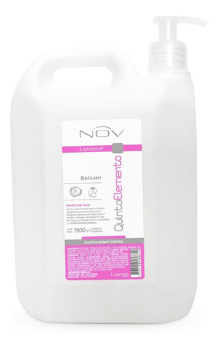 Balsam Nov Quinto Elemento X 1900 Ml C/bomba