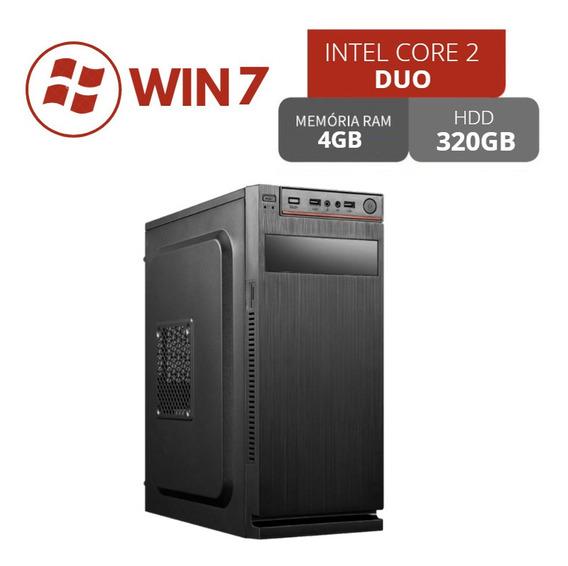 Desktop Core 2 Duo 4gb 320gb Win7 Até 12x No Cartão
