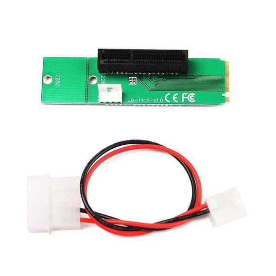 Adaptador Ngff M.2 Para Pci-e 4x Mineração Riser Eth Btc