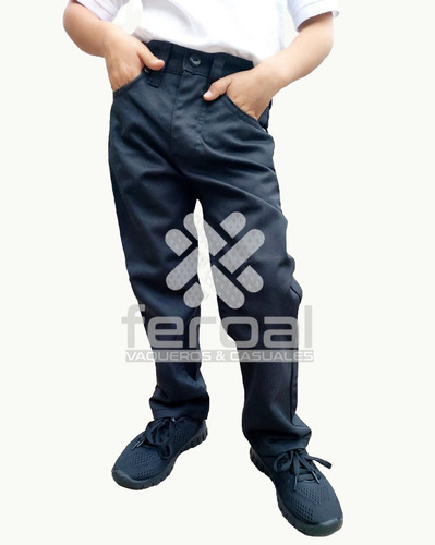 Pantalon Para Niño Con Elastico Paquete De 3 Mayoreo
