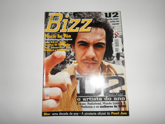 Revista Bizz Marcelo D2 - U2, Pearl Jam, Blur, Radiohead