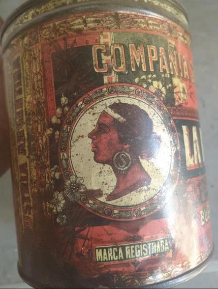 Antigua Lata La Negra Compañía Sansinena 1920