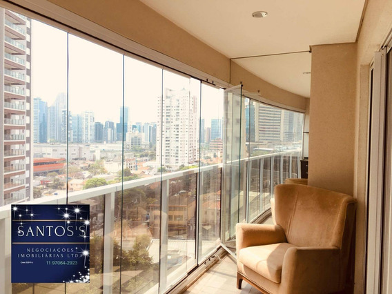 Apartamento Com 1 Dormitório À Venda, 52 M² Por R$ 750.000 - Brooklin - São Paulo/sp - Ap1779