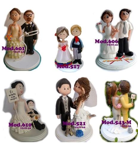 Cake Toppers Novios Personalizados Boda Figuras Para Pastel