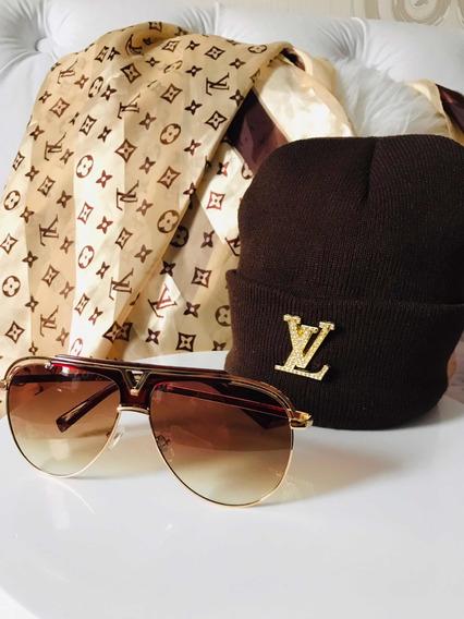 Óculos De Sol Louis Vuitton Com Gorro De Frio
