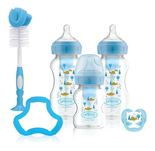 Set De Regalo Azul Options + Boca Ancha Dr. Brown's