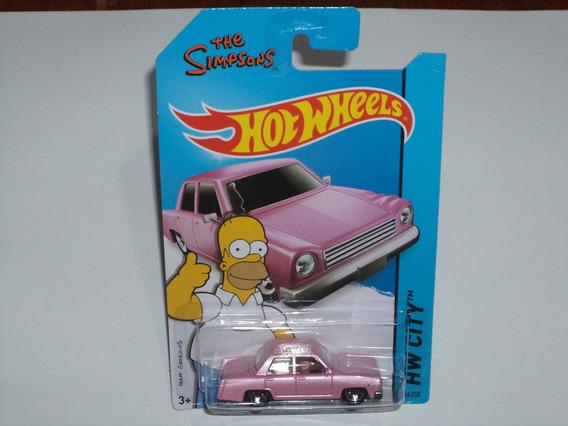 Carrinho Hot Wheels Homer Simpsons Rosa Original Mattel !!!