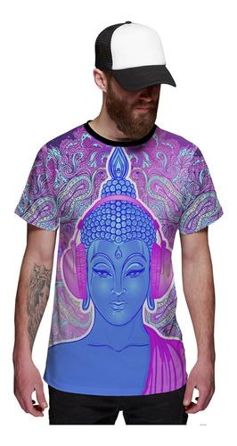 Imagem 1 de 2 de Camiseta Psicodélico Buda Dj Efeito Alucinógeno