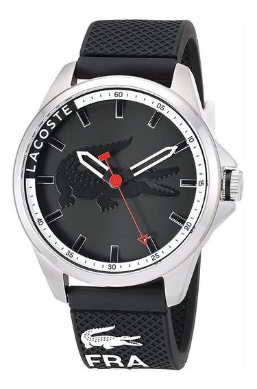 Reloj Lacoste Capbreton Acero Silicón Negro Hombre 2010840