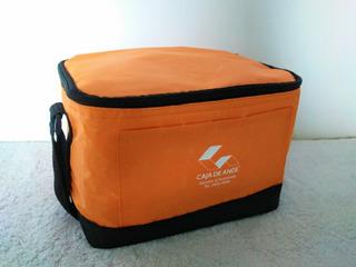 Lonchera Grande Color Naranja Nueva