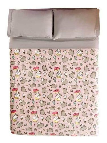 Imagen 1 de 5 de Cobertor Vianney Ligero Matrimonial Pusheen