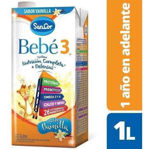 Leche Sancor Bebe 3 (+2 Años) Sabor Vainilla 24 X 1litro