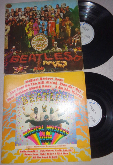 2 Lps Beatles- Sgt Peppers E Magical Mystery Tour C/ Livreto