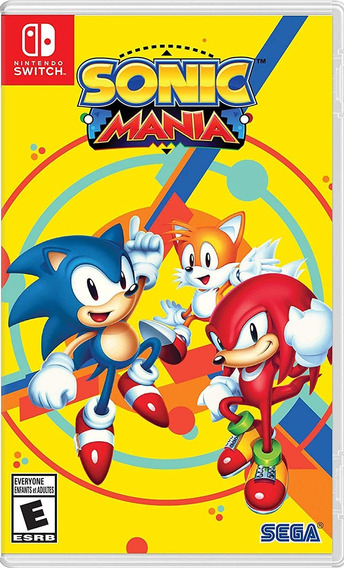 Sonic Mania Switch Mídia Física Lacrado