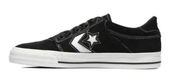 Zapatillas Converse Tri Star Negro!!! Cuero Descarne!!!
