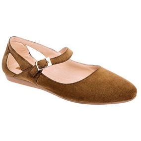 Zapatos Vestir Flats Poker Dama Textil Camel T18308 Dtt