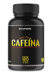 Cafeína Pura 120 Cápsulas 500mg Natuforme