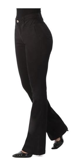 Calça Feminina Jeans Flare C/ Alta Sawary C/ Cinta Redutora
