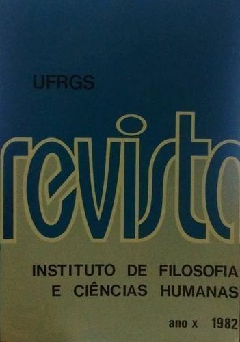 Revista Do Instituto De Filosofia E Ciências Humanas - Ano X