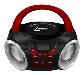 Rádio Portátil Lenoxx Bd110a Boombox Preto E Vermelho 5w Rms