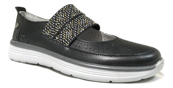 Zapatillas Cavatini Zapatilla Con Elastico F.comb. Negro-40-