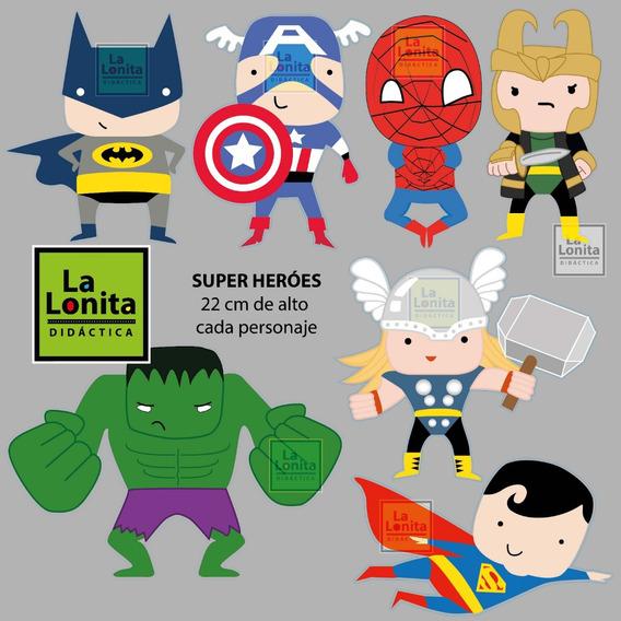 Vinilo Decorativo Super Heroes Niños X 7 Nuevo!