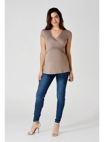 Pantalon Jean Para Embarazadas - Diseño Urbano (tienda Ofic)