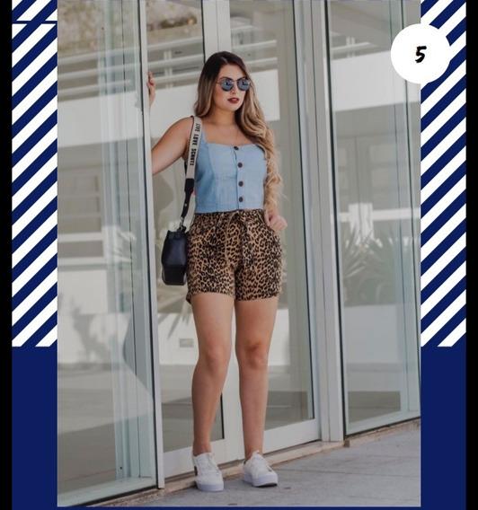 Top Cropped Jeans Feminino Com Botões Azul Claro