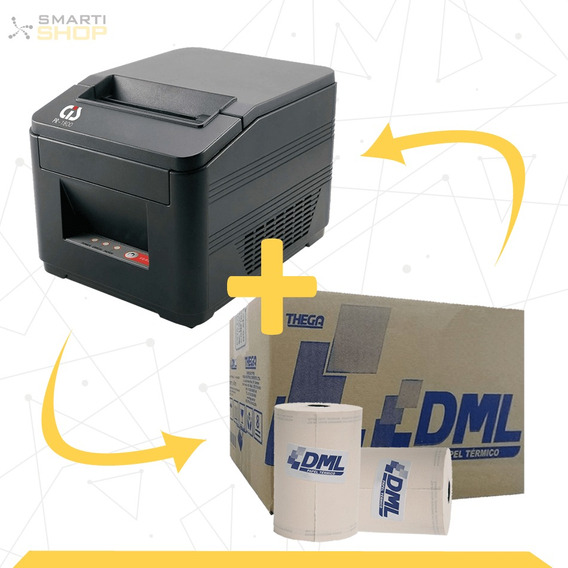 Impressora Térmica Cis Pr1800 + 1 Caixa De Bobina 80x40 30un