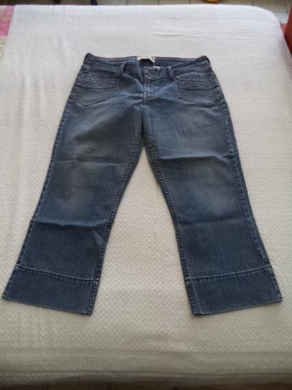 Pantalon Capri D Mezclilla Strech Azul Levi´s Talla 10 Dama