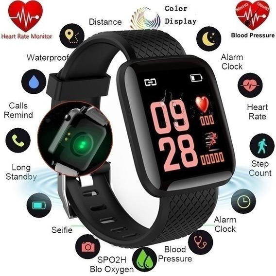 Smartwatch D13, M16, M116 Ritmo Cardíaco