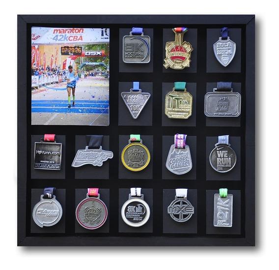 Medallero Running Maratón Con Foto Portaretrato Deportes