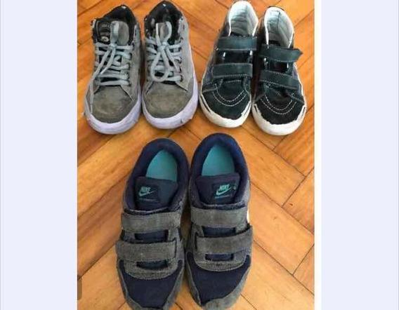 Lote De Zapatillas Nene Nike Vans Talle 29