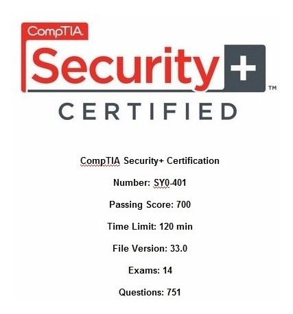 Simulados Comptia Sy0-401 - Security+ Certification