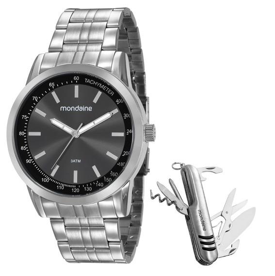Relógio Mondaine Masculino + Canivete 99318g0mgne1k1