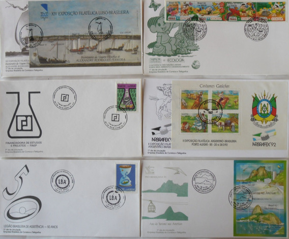 Envelopes Fdc - Lote Com 24 Un. Diferentes De 1992