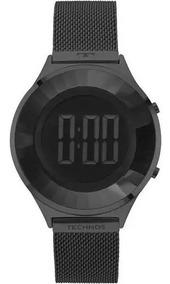 Relógio Feminino Technos Bj3572ab/4p Digital Aço Preto