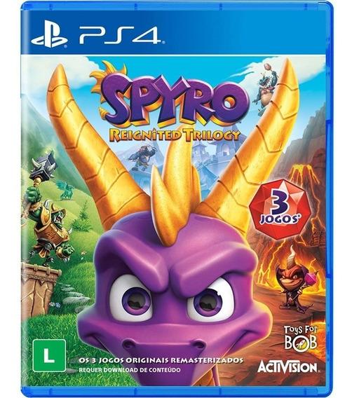 Spyro Reignited Trilogy - Ps4 Midia Fisica Em Português