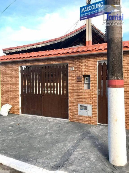 Casa Em Praia Grande, 02 Dormitórios Sendo 01 Suíte, Caiçara, Ca0176 - Ca0176