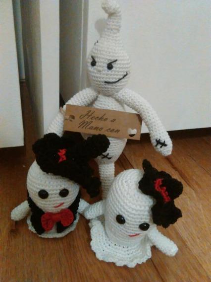 Fantasma Crochet Regalo Halloween Decoraciòn.