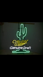 Lampara Cenon Tema Cerveza Miller Color Verde Y Amarillo