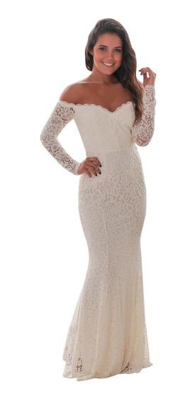 Sexy Elegante Vestido Fiesta Noche Encaje Sirena 61847