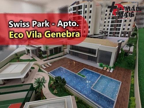 Imagem 1 de 15 de Eco Vila Genebra 3 E 2 Dorm Lançamento No Swiss Park - Oportunidade - Ader796