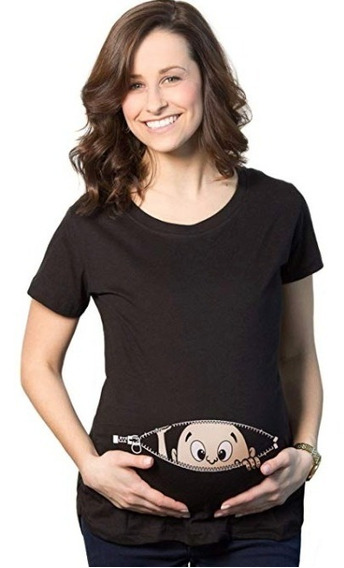 Camiseta De Maternidad, Mujer Embarazada, Con Diseño