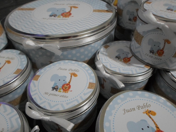 Pack 15 Latas+jabon+toalla+central,souvenirs Baby Shower