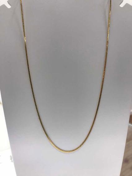 Colar Corrente Banhada A Ouro 18 K 50 Cm