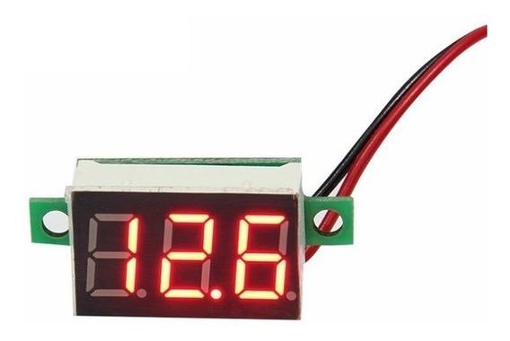 Mini Voltímetro Digital 2fios Led. 2.5-30v ( Frete R$12,00 )